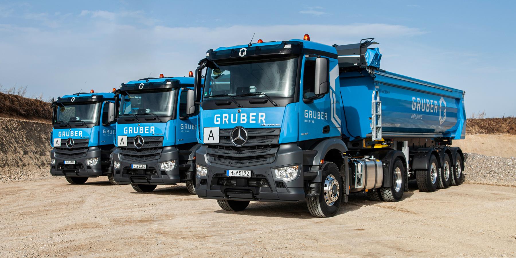 LKW der GRUBER Holding Sauerlach
