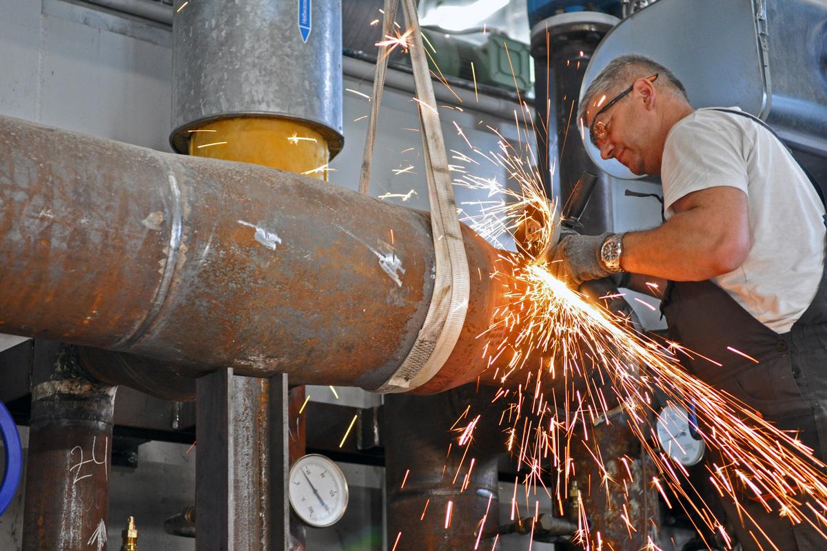 Schweissarbeiten - GRUBER Anlagenbau