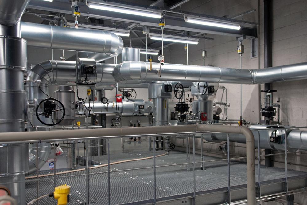 Heißwasserverteilung für Absorptionskälte, Flughafen München